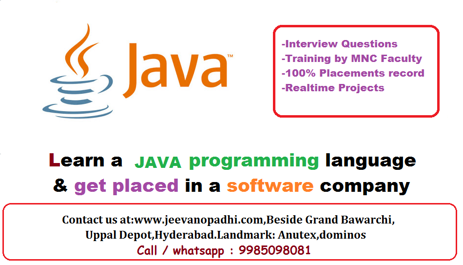 java training at uppal