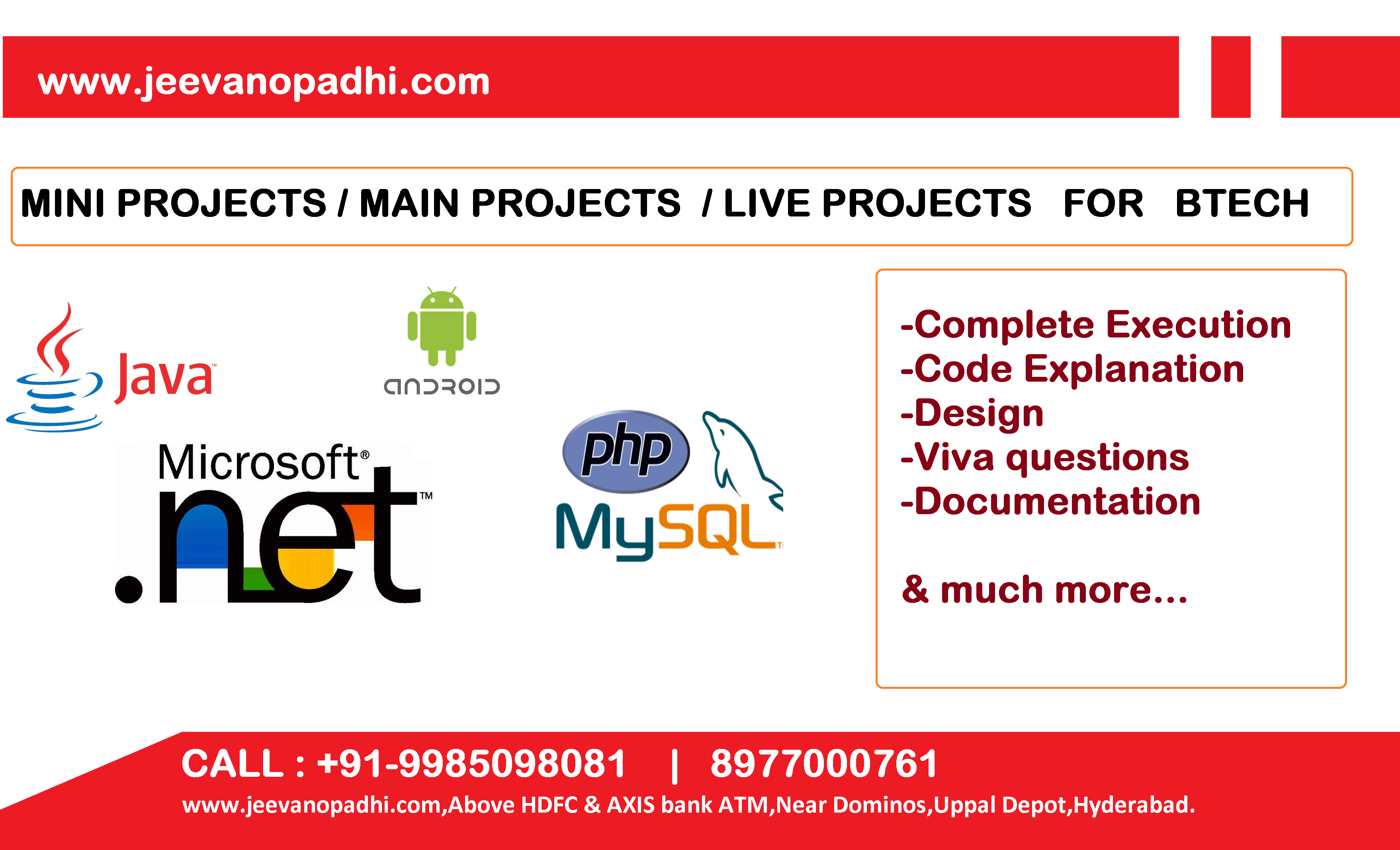 mini projects in hyderabad