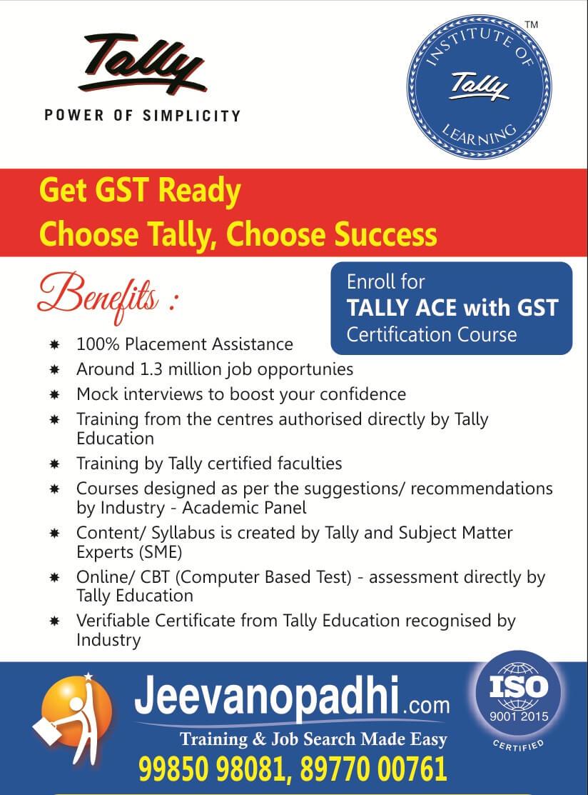 tally training in hyderabad