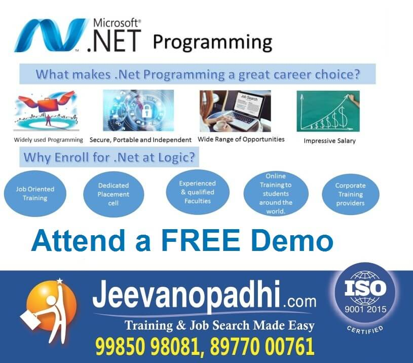 Best Dotnet Training Institute At Hyderabad Uppal Depot Jeevanopadhi