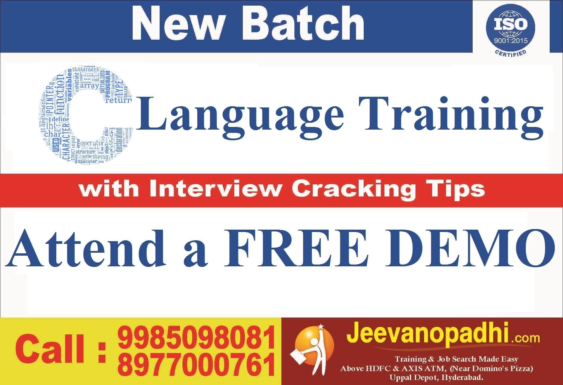 da7f1bd74 Best C Language Training Institute at Hyderabad  Uppal Depot ...